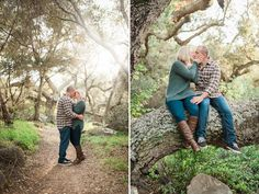 Engagement session in trees at felicita park, Escondido CA   Linsey Middleton Photography