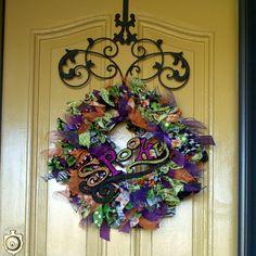 Halloween Wreath - Ribbon & Lace