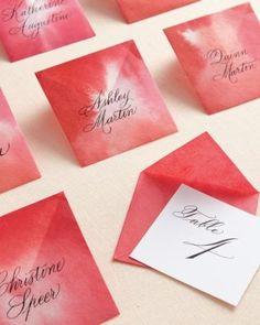 Origami escort cards