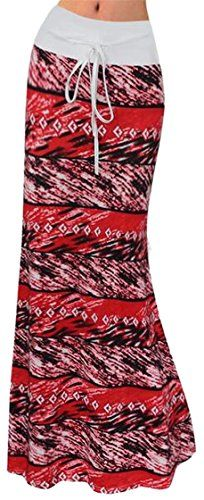 2fd26d74ce FLCHYIGE Womens Elastic Drawstring Maxi Floral Print Leisure Skirt 10 XS **  ** AMAZON BEST BUY ** #SummerOutfit