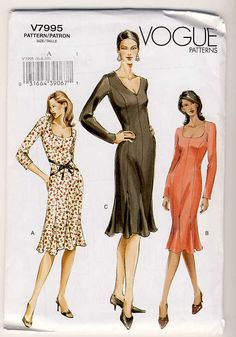 Vogue 7995 Misses SemiFittedKnee Length by Noahslady4Patterns, $5.75