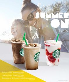 Bryan Sheffield and Starbucks Summer — Nest Artists Starbucks Case, Mocha Coffee, Frappuccino, Strawberries And Cream, Iced Tea, Strawberry, Food And Drink, Ads, Summer