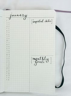 "minimalist-study: "" 2016 bullet journal!! i did a yearly overview (inspired by x) and a january monthly spread in my moleskine squared notebook (ridiculously priced but it's sO CUTE) i will be posting updates of my bullet journal as the year goes..."