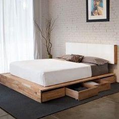 #Bed base Madera