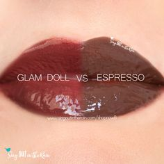 Compare Espresso vs. Glam Doll LipSense using this photo.  Espresso is a Limited Edition LipSense lipcolor that was part of the Cafe Lips Collection.  Click to contact me and see if I still have one on hand!  #espresso #cafelips