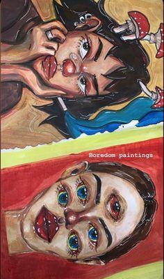 Arte Indie, Indie Art, Indie Drawings, Art Drawings Sketches, Pretty Art, Cute Art, Hippie Painting, Arte Sketchbook, Funky Art