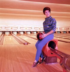 Bowling in stirrup pants! My mom had a bowling ball just like that, with black stirrup pants. Stirrup Pants, Kissy Face, Sock Hop, New Year Holidays, Music People, My Youth, Comic Covers, Matching Outfits, The Past