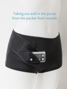 Boxer Boxi Svart to carry your insulin pump easy