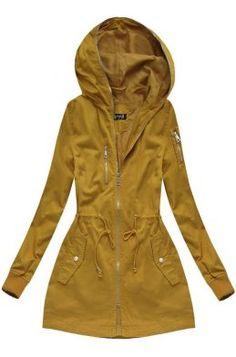 Dámska prechodná bunda parka horčicová H055 Raincoat, Outfit, Jackets, Fashion, Rain Jacket, Outfits, Down Jackets, Moda, Fashion Styles