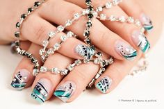 Nail Art by AcademieDiva from Nail Art Gallery Design Graphique, Nail Art Galleries, Nails Magazine, Pandora Charms, Nail Designs, Art Gallery, Info, Bracelets, Jewelry
