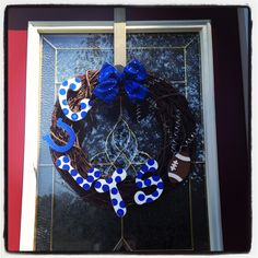 Indianapolis Colts Wreath #DIY #Decorations #Decorate #Decor #HomeDecor #Wreaths #Sports #Football