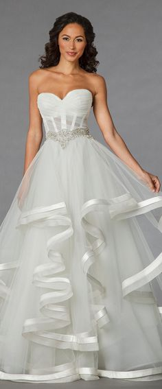 Pnina Tornai hankerchief wedding dress 2015