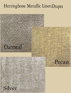 Custom Herringbone Metallic Linen Drape with Lining - You pick the color by Avec Dieu Couture Home