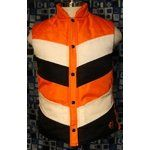 Always a fan of bold colors, and these fat stripes kick it up a notch. Has the puffy vest thing been done too many times?