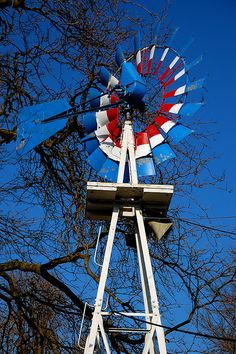 Red White and Blue Windmill.. Nice change from the rustic ones.