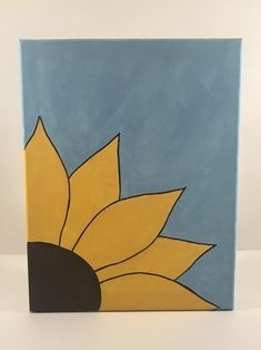 Kids Canvas Art, Small Canvas Paintings, Small Canvas Art, Diy Canvas, Cute Easy Paintings, Simple Acrylic Paintings, Painted Canvas, Small Art, Canvas Painting Tutorials