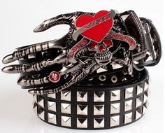 Men's Belts, leather Pu heavy metal wide big rivet