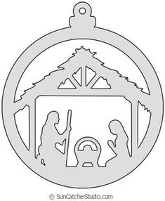 DIY Christmas Ornament Patterns, Templates, Stencils (Coloring Pages) Free Nativity Scene Christmas tree ornament patterns for the scroll saw, laser cutting patterns, or color and create homemade DIY ornaments. Nativity Ornaments, Christmas Nativity Scene, Nativity Scenes, Beaded Ornaments, Felt Ornaments, Glass Ornaments, Glitter Ornaments, Painted Ornaments, Ornaments Design