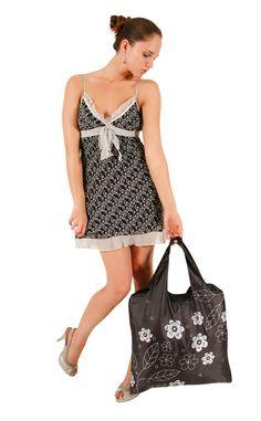 Black & White 2 ECOZZ Reusable Shopping Bag #ecozz $9.95