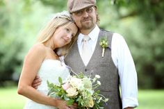 country wedding couple