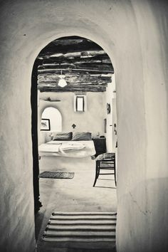 Silence, religius atmosphere, traditional cycladic air in the master bedroom of tinoshouse Rent A Villa, Greek House, Greece Islands, Renting A House, Master Bedroom, Restoration, Homes, Interiors, Traditional