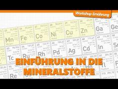 MINERALSTOFFE (1/3): Einführung in die Mineralstoffe | Workshop Ernährung - YouTube