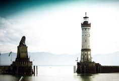Lindau (Bodensee) – Hafeneinfahrt mit neuem Leuchtturm