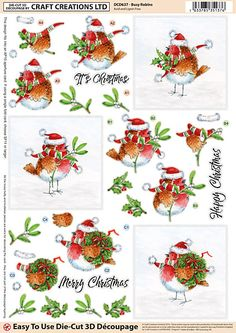 Die Cut Decoupage Sheets with Mixed Designs - Craft Creations Online
