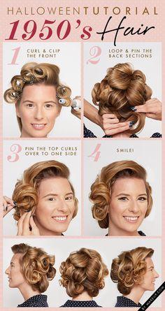 Halloween tutorial: 1950's hair // so glam