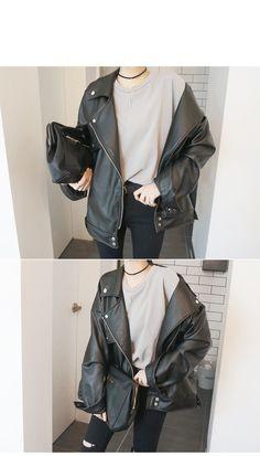 OZNARA Chic Over Fit Rider Jacket