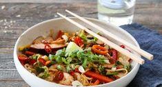 MARENGS MED MØRK SJOKOLADE OG MANDLER | TRINES MATBLOGG Frisk, Sashimi, Wok, Food And Drink, Beef, Recipes, Noodle Salads, Cilantro, Meat