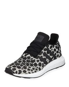 e0816d02d adidas Swift Run Cheetah-Print Trainer Sneakers