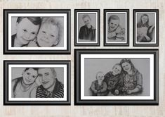 Family Portraits Commissioned pencil family portraits on paper. Family Portraits, Digital Illustration, Inspire Me, How To Draw Hands, Gallery Wall, Pencil, Hand Painted, Drawings, Paper