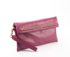Allegra Clutch - Berry | Cuore and Pelle