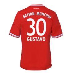 13-14 Bayern Munich #30 Gustavo Home Soccer Jersey Shirt