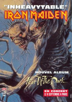 Iron Maiden Fear After Dark Heavy Metal Music, Heavy Metal Bands, Hard Rock, Rock Bands, Iron Maiden Mascot, Fear Of The Dark, Bruce Dickinson, Metal Albums, Lost In Translation