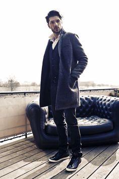 06cf0c50df64 Manteau hiver homme et pantalon slim IKKS Manteau Hiver Homme, Veste Homme,  Homme Bien