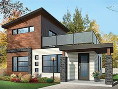 e-Plans+Contemporary+Modern+House+Plan+–+Affordable+Tiny+House+With+Upper+Level+Deck+–+924+Square+Feet+and+2+Bedrooms+from+e-plans+–+House+Plan+Code+HWEPL77935