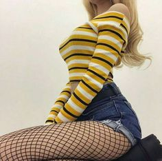 Bottoms - fishnet tights-black Source by Grunge Outfits, Edgy Outfits, Mode Outfits, Grunge Fashion, Cute Fashion, Look Fashion, Korean Fashion, Girl Outfits, Fashion Outfits
