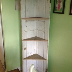 Corner Door bookshelf.
