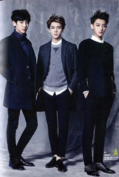 CHANYEOL SEHUN TAO // 2015 Season's Greetings official calendar