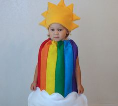 Kids Halloween Costume Childrens Costume Rainbow Sun Clouds Photography Prop Dress Up on Etsy, $65.00