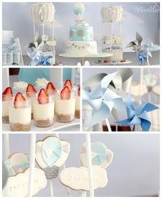 Hot Air Balloon Birthday Party via Kara's Party Ideas | KarasPartyIdeas.com (1)