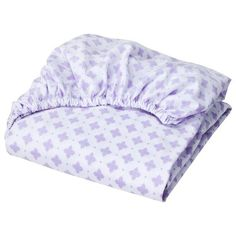 Circo® Woven Fitted Crib Sheet - Shy Lavender