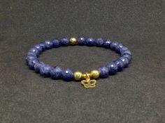Pulsera de Zafiro Azul Plata Italiana 925 Oro 21k,piedras semipreciosas,pulseras de piedras,joyas de zafiro,joyas,regalo para mujer,regalos de DeMaiCreaciones en Etsy
