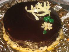 Espejo de chocolate, baño glaseado brillante ~ Pasteles de colores