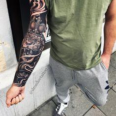 V Tattoo, Forarm Tattoos, Forearm Sleeve Tattoos, Mask Tattoo, Full Sleeve Tattoos, Tattoo Sleeve Designs, Lion Head Tattoos, Boy Tattoos, Badass Tattoos
