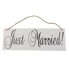 Tinksky JUST MARRIED Signs with Wire Hangers Wedding Hanging Decoration Photo Props - breaker furniture Just Married Sign, Wooden Wedding Signs, Wedding Hangers, Wire Hangers, Door Hangers, Wedding In The Woods, Hanging Signs, Alternative Wedding, Wall Hanger