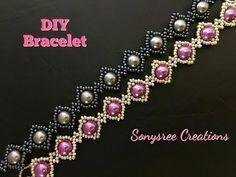 Simple beaded bracelet - YouTube