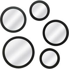 Mainstays 5-Piece Mirror Set, Black